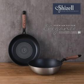 [쉬젤] Shizell 엘레강스 IH 프라이팬 2종세트 (프라이팬 28cm+ 궁중팬 28cm) 이미지