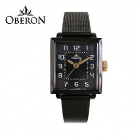 [OBERON]여성용 사각 메쉬밴드 시계 OB-604BKBK 이미지