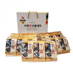 [설이왔소] [새우표] 사랑愛 도시락김 선물세트+선물박스포함 이미지