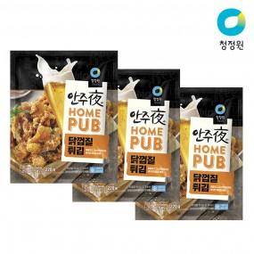 청정원 안주야 홈펍 닭껍질튀김 220g x 3개 이미지