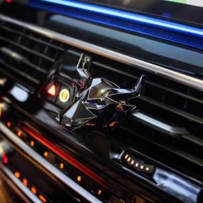 [핫딜] 100% 메탈로 제작한 로벤트 로벤트불 황소 차량용 방향제 차량용 디퓨저 이미지