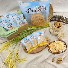 [무료배송]경남 산청쌀로 만든 고소한 산청메뚜기쌀 누룽지 50g*11팩-추가 증정행사 진행중 이미지