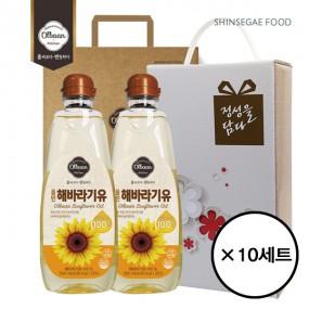 [설이왔소] [신세계푸드] 올반 해바라기유 2P 선물세트+쇼핑백 10세트(박스단위) 이미지