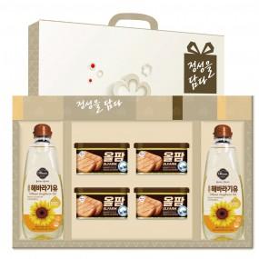 [설이왔소] [신세계푸드] 올팜 해바라기유 2호 선물세트+손잡이케이스 이미지