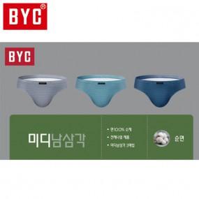 [BYC] 남성 미디 3매입 삼각팬티(L2462) 이미지