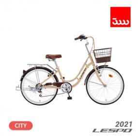 [삼천리] 21년형 레스포 프림로즈 7단 24인치 시티형 바구니 자전거 이미지