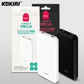 코끼리 보조배터리 U팩 메가 10000mAh USB 충전타입 블랙/화이트 이미지