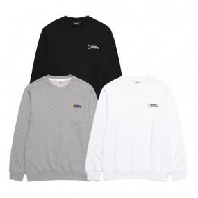 [내셔널지오그래픽] 21SS 베이직 맨투맨 티셔츠 B203USW020 이미지