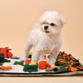 [퍼피아] 강아지 악어 매트 반려애견 노즈워크 (크림&그린) 이미지