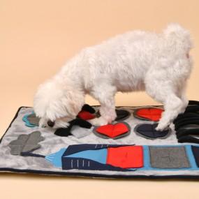 [퍼피아] 강아지 시티 매트 반려애견 노즈워크 (그레이&네이비) 이미지