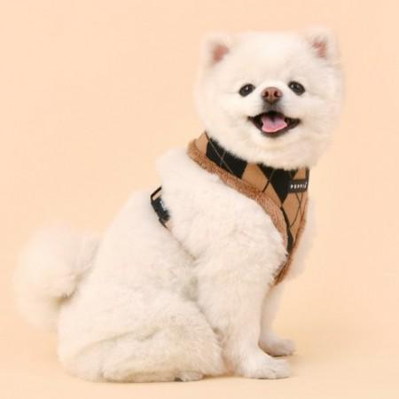 [퍼피아] 강아지 아몬드 반려애견 하네스A 2종 (베이지/블랙)