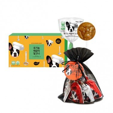 [떼르드글라스] 떼글이 유기농달고나(12입)+발렌타인 초콜릿(9입) 선물세트 / 저칼로리 비정제설탕 유기농인증 어린이간식 임산부간식 이미지