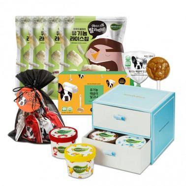 [떼르드글라스] 유기농 종합 선물세트(달고나 12입+초콜릿 9입+아이스크림 8입+라이스칩 4입) 이미지