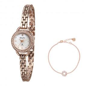 [발렌티노 루디]여성용 다이아몬드인덱스 팔찌형 손목시계 이미지