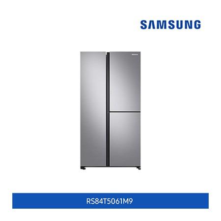 [삼성전자] 양문형 냉장고 846L / 3도어, 슬림 아이스메이커, 푸드 쇼케이스 (젠틀실버매트 색상) 이미지
