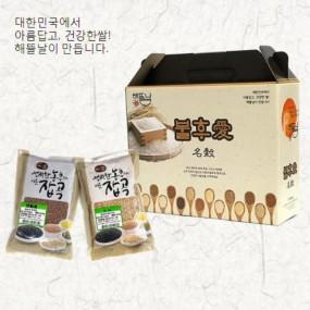 [정월대보름] [해뜰날] 불후애명곡 스텐드 2종 선물세트(현미,찰보리) 1.0kg 이미지