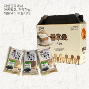 [정월대보름] [해뜰날] 불후애명곡 스텐드 3종 선물세트(찰흑미,현미,찰보리) 1.5kg 이미지