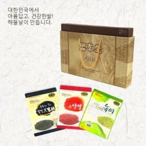 [정월대보름] [해뜰날] 불후애명곡 3종 잡곡선물세트 B-1호(녹찰현미,붉은약쌀,검정보리) 1.5kg 이미지