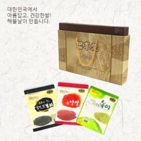 [정월대보름] [해뜰날] 불후애명곡 3종 잡곡선물세트 3호(발아현미,검정보리,붉은약쌀) 2.1kg 이미지