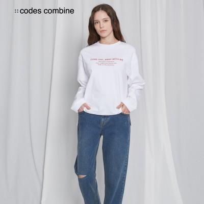 ★21SS신상! [코데즈컴바인]  루즈핏 베이직 티셔츠 화이트 (CGA-TS512W3_01F)