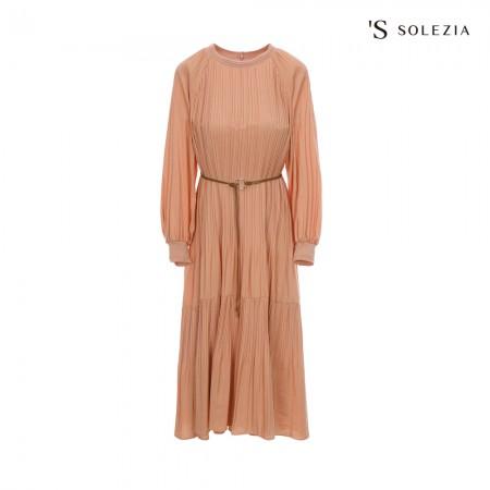 에스쏠레지아 벨티드 플리츠 드레스 SOL2WOP040