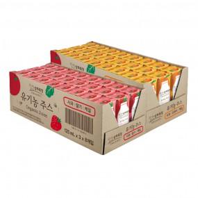 [매일유업][상하목장]유기농주스  사과|오렌지|케일125ml 24팩 + 사과|딸기|케일125ml 24팩 이미지