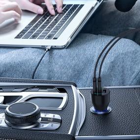 [유엠투]차량용 고속 USB 충전기 3포트 C타입 맥북 노트북충전 스마트폰충전 UMCH95 이미지