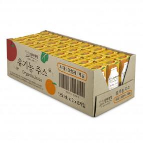 [정오의 특가][매일유업][상하목장]유기농주스 사과오렌지케일 125ml(24팩,48팩) 이미지