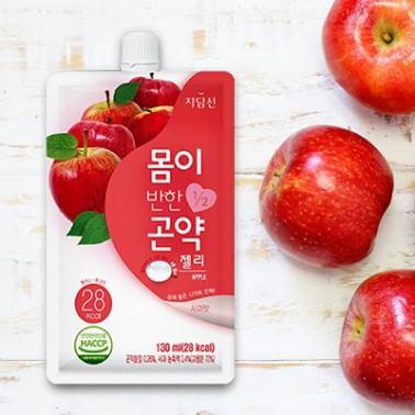 [슬림바디챌린지][자담선] 몸이 반한 곤약젤리 디저트 사과 [130ml * 10팩] 이미지