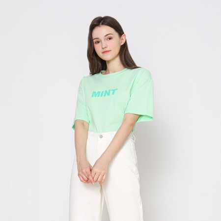 [VISIT IN NEWYORK] 컬러 레터링 티셔츠 VX3STE1 이미지