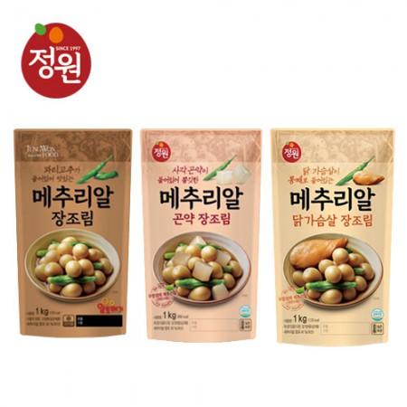 정원 장조림 3종세트 (닭가슴살1kg + 꽈리1kg + 곤약1kg) ★무료배송★