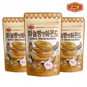 [머거본] 견과류 마늘빵맛아몬드 180g  x3봉 이미지