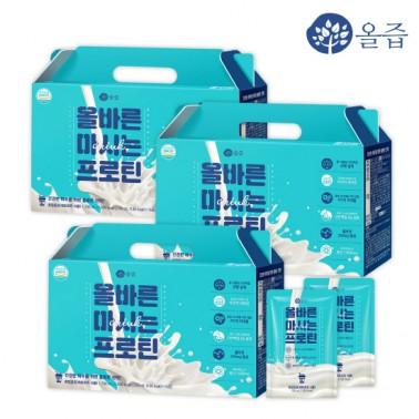 [슬림바디챌린지] [올즙] 올바른 마시는 프로틴 14포*3박스 (1A등급 우유로 만든 고단백질 음료!) 이미지