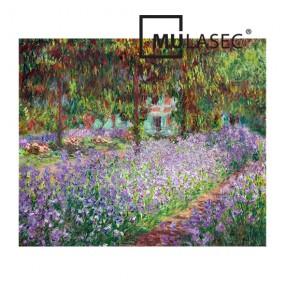 뮤라섹 클로드 모네 화가의 지베르니 정원 80x60x3.5cm 이미지