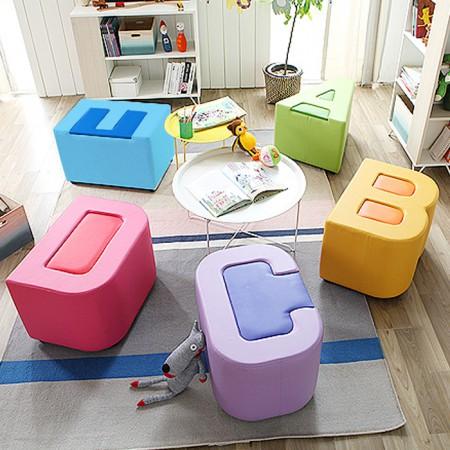 알파벳 ABC 스툴 의자 MA012N 이미지