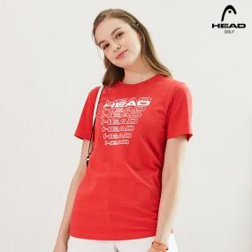 [창고대방출]][HEAD]19 NEW 헤드골프 여성 반팔티셔츠 레드 JFKTSJ17 (무료배송) 이미지
