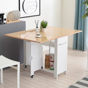 이동형 폴딩 테이블 식탁(하이그로시800) KD455 이미지