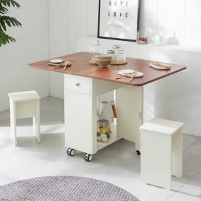 이동형 폴딩 테이블 식탁(LPM)+의자2개 KD470 이미지