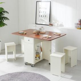 이동형 폴딩 테이블 식탁(LPM)+의자4개 KD474 이미지