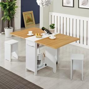 이동형 폴딩 테이블 식탁(멤브레인)+의자2개 KD471 이미지