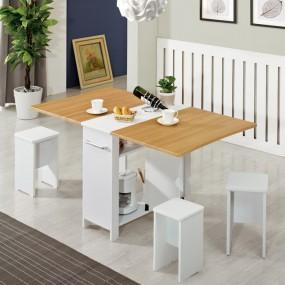 이동형 폴딩 테이블 식탁(멤브레인)+의자4개 KD475 이미지