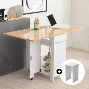 이동형 폴딩 테이블 식탁(하이그로시600)+의자2개 KD479 이미지