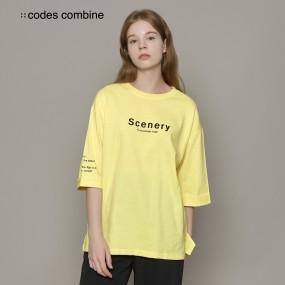 [코데즈컴바인] 인터라켄 롤업 티셔츠 옐로우 (CGA-TSM08W3_20F) 이미지