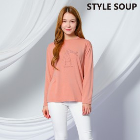 [SOUP]  일러스트 라운드 티셔츠 SX3LTE6 이미지