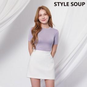 [SOUP]  컬러 슬림핏 티셔츠 SX3STE1 이미지