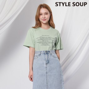[SOUP]  라운드넥 레터링 티셔츠 SX3STE9 이미지