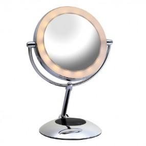 [창고대방출][DVOR] 드보르 2컬러 LED 360도 회전 양면 확대 스마트거울(무료배송) 이미지