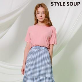 [SOUP] 웨이브 트리밍 립트 티셔츠  SX4STE3 이미지