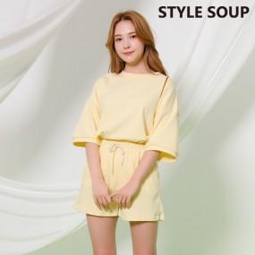 [SOUP] 루즈핏 티셔츠 팬츠 세트 SX4TXE1 이미지