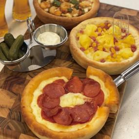 [고메공방] 크레이지 치즈 피자 3종 (멕시칸, 하와이안, 페퍼로니) x 1팩 이미지